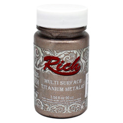 Rich - Rich Multi Surface Titanium Metalik Boya - 2510:LATTE 90cc